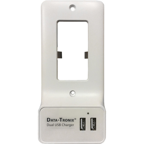 Data-Tronix USB Charging Wall Plate for Decora-Style AC Outlets (White)