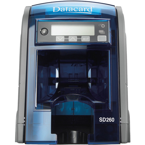 DATACARD SD260L ID Card Printer with Identive Smart Card Encoder and Automatic Feed Hopper