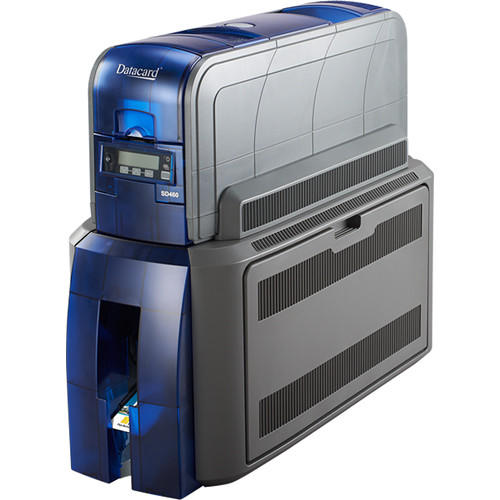 DATACARD SD460 Duplex Printer with 100-Card Input Hopper, ISO Magnetic Stripe & Single-Wire DUALi Smart Card Contact/Contactless Reader/Encoder