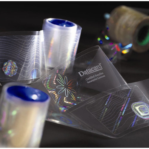 DATACARD DuraGard Optigram 1.0 mil Security Laminate with 'Utopia' Registered Holograph (Magnetic Stripe Card, 300 Laminates)
