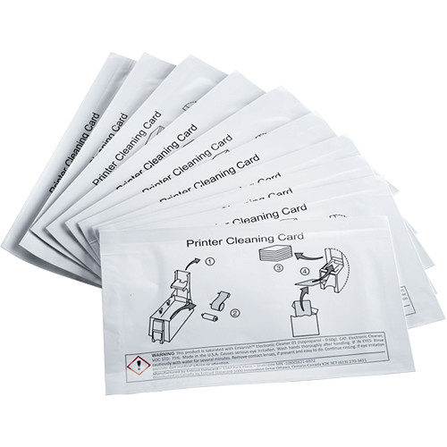DATACARD Double-Sided Adhesive Cleaning Card for Printer Unit (10-Pack)