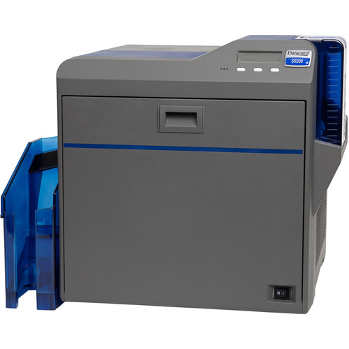 DATACARD SR300E Duplex Retransfer Printer with Magnetic Stripe & Identive Loosely Coupled, Dual Contact/Contactless Smart Card Encoder for MiFare, ISO7816, ISO14443 A/B, Felica Cards