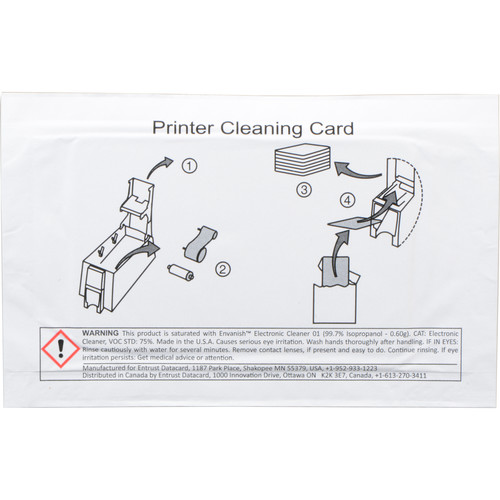 DATACARD Cleaning Card for ID Printers (10-Pack)