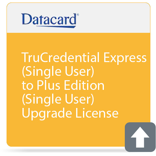 DATACARD TruCredential Express (Single User) to Plus Edition (Single User) Upgrade License