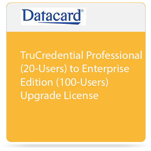 DATACARD TruCredential Professional (20-Users) to Enterprise Edition (100-Users) Upgrade License