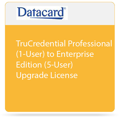 DATACARD TruCredential Professional (1-User) to Enterprise Edition (5-Users) Upgrade License