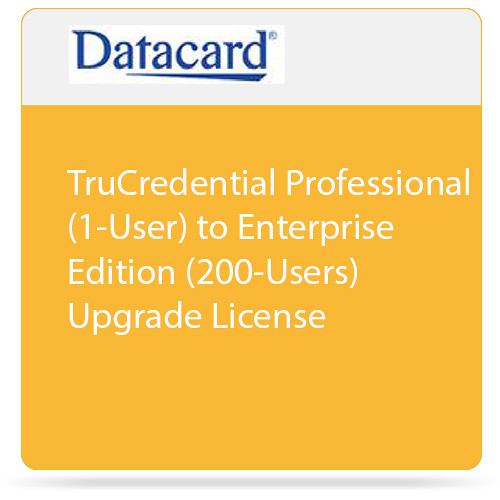 DATACARD TruCredential Professional (1-User) to Enterprise Edition (200-Users) Upgrade License