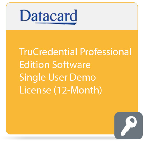 DATACARD TruCredential Professional Edition Software Single User Demo License (12-Month)