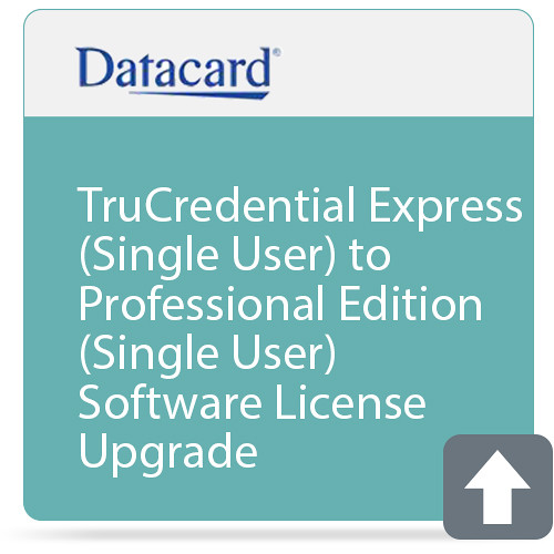 DATACARD TruCredential Express (Single User) to Professional Edition (Single User) Software License Upgrade