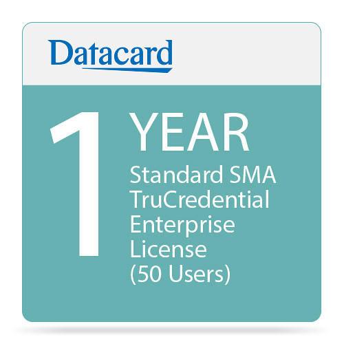DATACARD Standard 1-Year SMA TruCredential Enterprise License (50 Users)