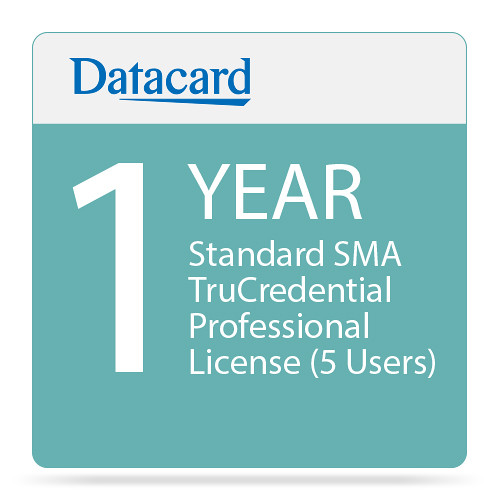 DATACARD Standard 1-Year SMA TruCredential Professional License (5 Users)