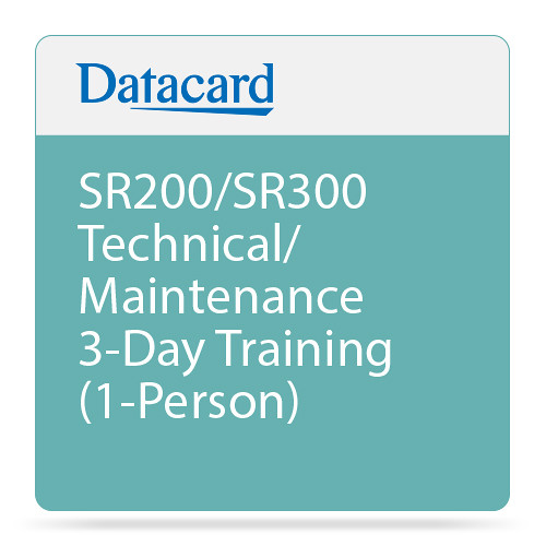 DATACARD SR200/SR300 Technical/Maintenance 3-Day Training (1-Person)