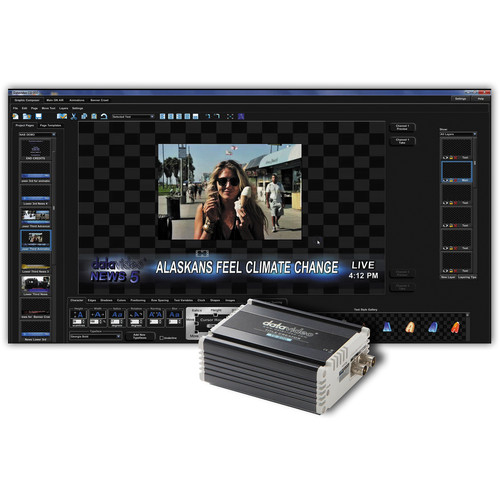Datavideo CG-350TC Kit with CG-350 HD/SD Character Generator and TC-200 HD/SD Character Generator Kit