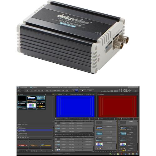 Datavideo CG-500TC Kit with CG-500 HD/SD Graphics & Character Generator and TC-200 HD/SD Character Generator Kit