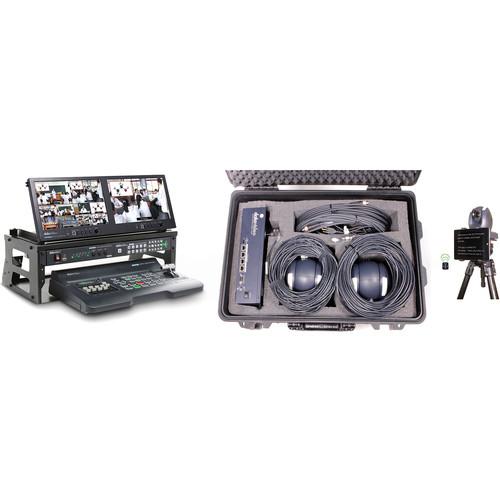 Datavideo 2-Camera Portable Video Production Bundle for Schools