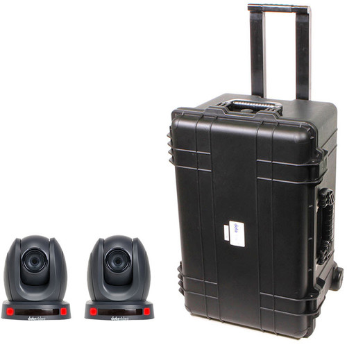 Datavideo PTZ Camera Kit with Two PTC-140T Cameras and an HC-800 Case