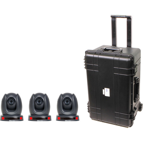 Datavideo PTZ Camera Kit with Three PTC-140T Cameras and an HC-800 Case