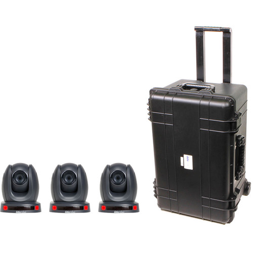 Datavideo 3 Camera PTC-150T GoKit with Wheeled Case