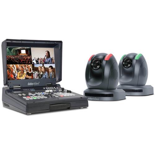 Datavideo 2-PTZ Camera and HDBaseT Switcher Kit