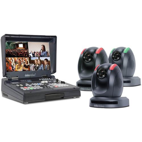 Datavideo 3-PTZ Camera and HDBaseT Switcher Kit