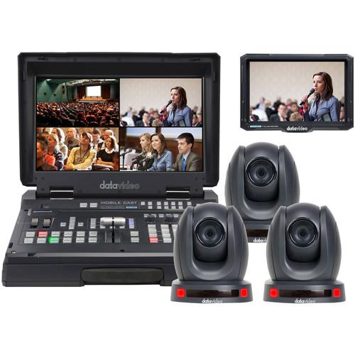 Datavideo HS-1600T Mobile Studio Kit with TLM-700K, 3 x PTC-140T, & Hard Rolling Case