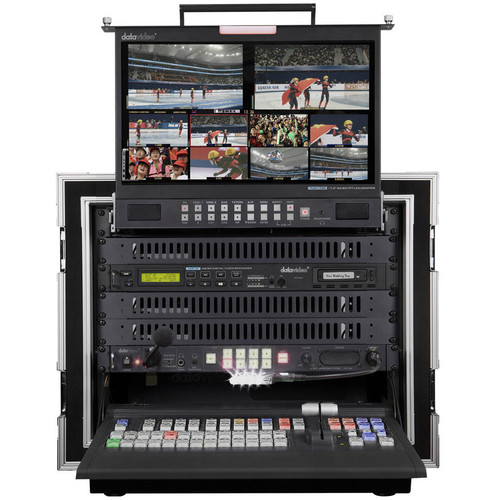 Datavideo Mobile Studio Includes SE-2850-8, HDR-70, TLM-170LM, Itc-100 W/ 4 Belt Packs, Ad-100M, And Pd-2A. As