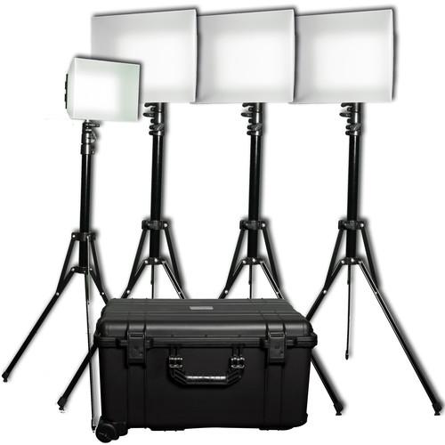 Datavideo Modular Dual Colour LED 4 Light Reporter Kit