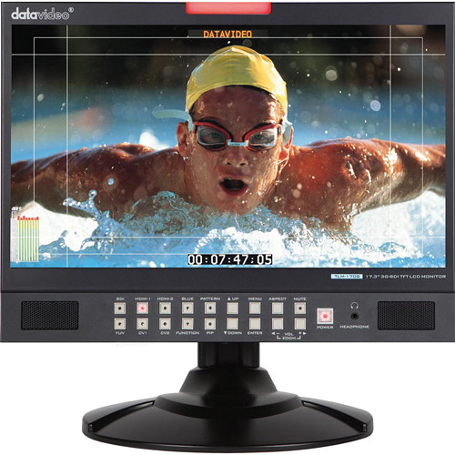 "Datavideo TLM-170G 17.3"" 3G-SDI & HDMI TFT LCD Monitor - Desktop Unit"