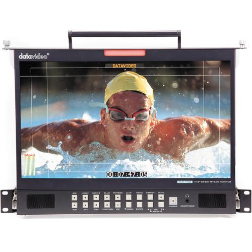 "Datavideo TLM-170GM 17.3"" 3G-SDI & HDMI TFT LCD Monitor - 1RU Foldable Rackmount Tray Unit"