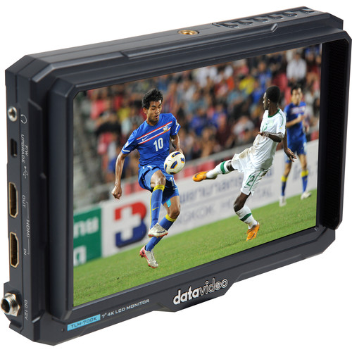 """Datavideo 7"""" 4K HDMI LCD Monitor for Professional DSLR and Camcorder"""