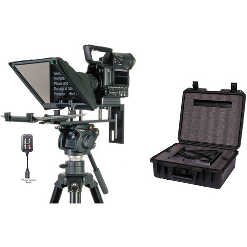 Datavideo TP-300B Prompter and Hard Case Kit for iPad and Android Tablets with Bluetooth/Wired Remote