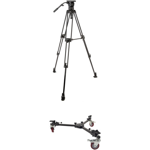 Davis & Sanford ProElite Tripod System with 3-25 Head and W4DS Spreader Dolly Kit
