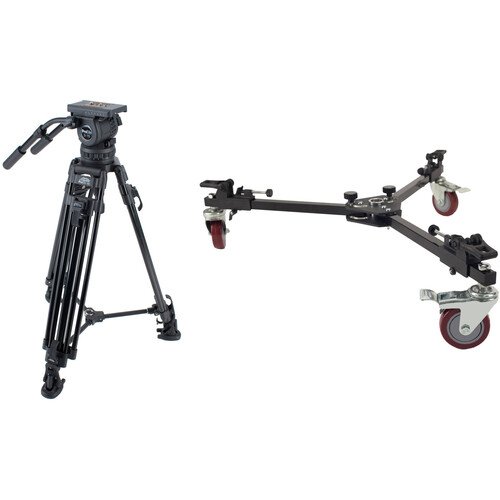 Davis & Sanford ProElite Tripod System with 3-15 Head and W4DS Spreader Dolly Kit