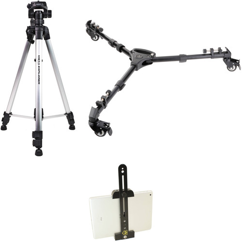 Davis & Sanford Explorer V Tripod Kit with 3-Way Pan/Tilt Head, Universal Dolly, and Tablet Mount Adapter