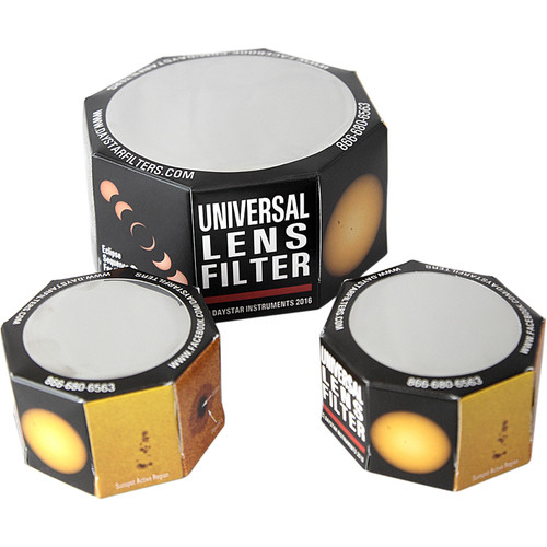 DayStar Filters White-Light ULF Solar Combo Pack for Cameras (One Each 50mm, 70mm, 90mm)