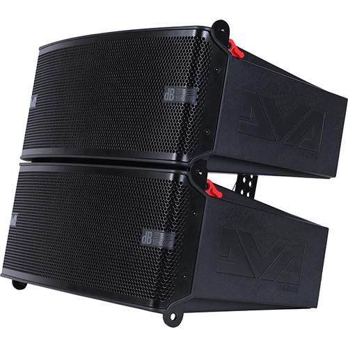 dB Technologies DVA M2M+M2S 2-Way Active Line Array Module with Slave Module (Black)