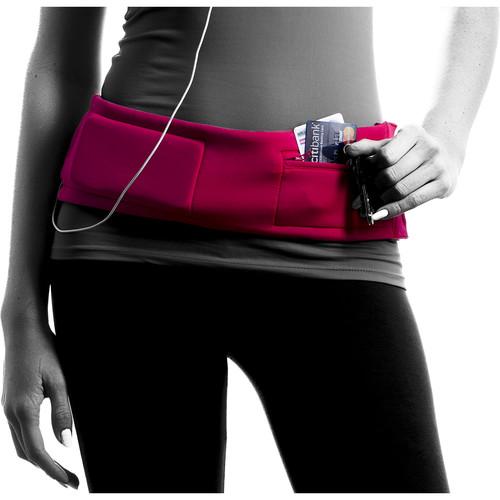 DBelt PRO Smartphone Fitness Belt (Large, Magenta)
