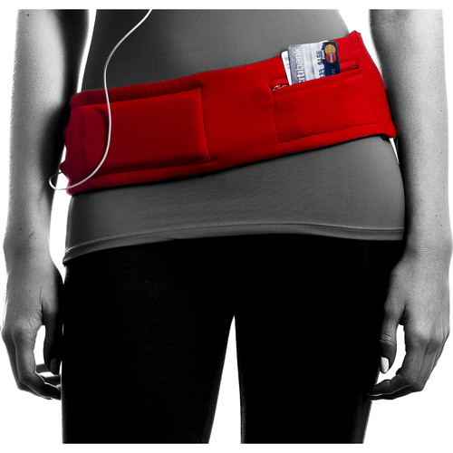 DBelt PRO Smartphone Fitness Belt (XS, Engine Red)