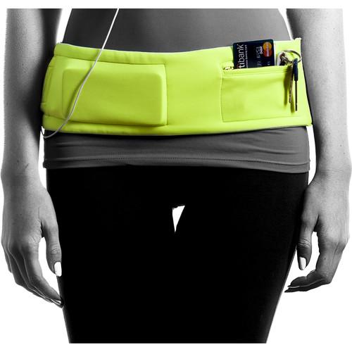DBelt PRO Smartphone Fitness Belt (Large, Lime)