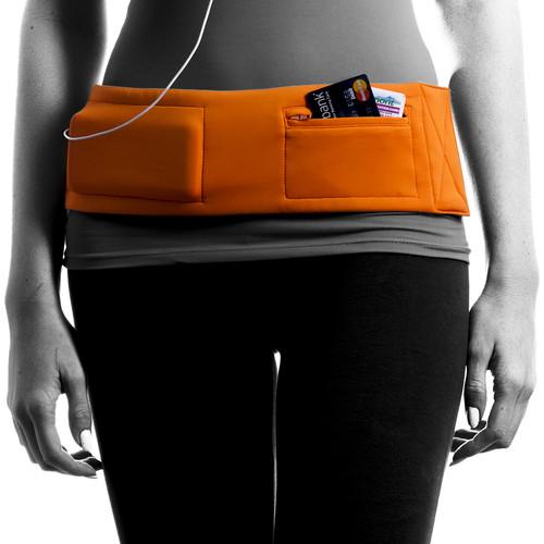 DBelt PRO Smartphone Fitness Belt (Small, Orange)
