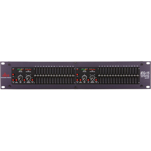 dbx iEQ-15 - Dual Channel, 15 Band EQ/Limiter with Type V Noise Reduction and Advanced Feedback Suppression