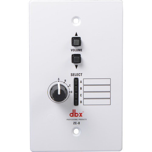 dbx ZC-8 - Source Selector and Volume Control for ZonePro