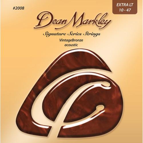Dean Markley DM2008 Extra Light VintageBronze Acoustic Signature Series Guitar Strings (10-47)