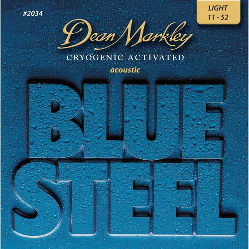 Dean Markley 2034 LT - Blue Steel Acoustic Guitar Strings (.011-.052)
