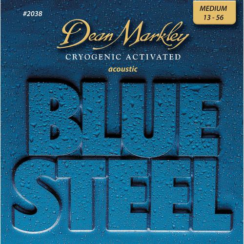 Dean Markley 2038 MED - Blue Steel Acoustic Guitar Strings (.013-.056)