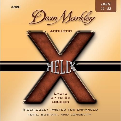 Dean Markley 2081 Helix Acoustic Guitar Strings (11-52 Gauge, 6-String Set)