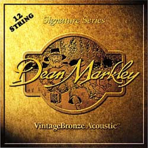 Dean Markley 2204 Medium Light - Vintage Bronze Acoustic Guitar 12-String Set (.011/.011-.050/.030)