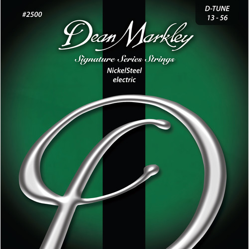Dean Markley DM2500 D-TUNE NickelSteel Electric Signature Series Guitar Strings (6-String Set, 13 - 56)