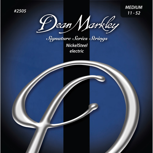 Dean Markley DM2505 MED NickelSteel Electric Signature Series Guitar Strings (6-String Set, 11- 52)