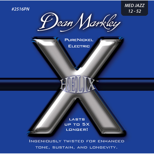 Dean Markley 2516PN MED JAZZ - Helix PureNickel Electric Guitar Strings (.012-.052)
